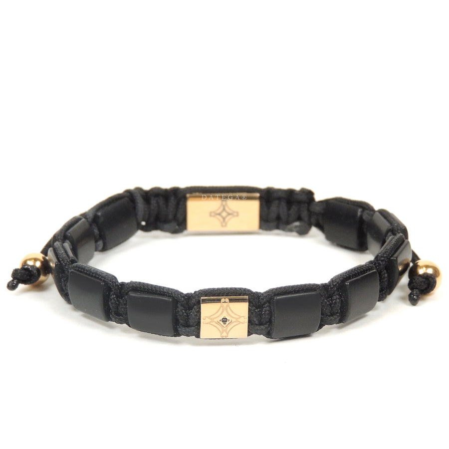 Onyx & Yellow Gold Star Bracelet