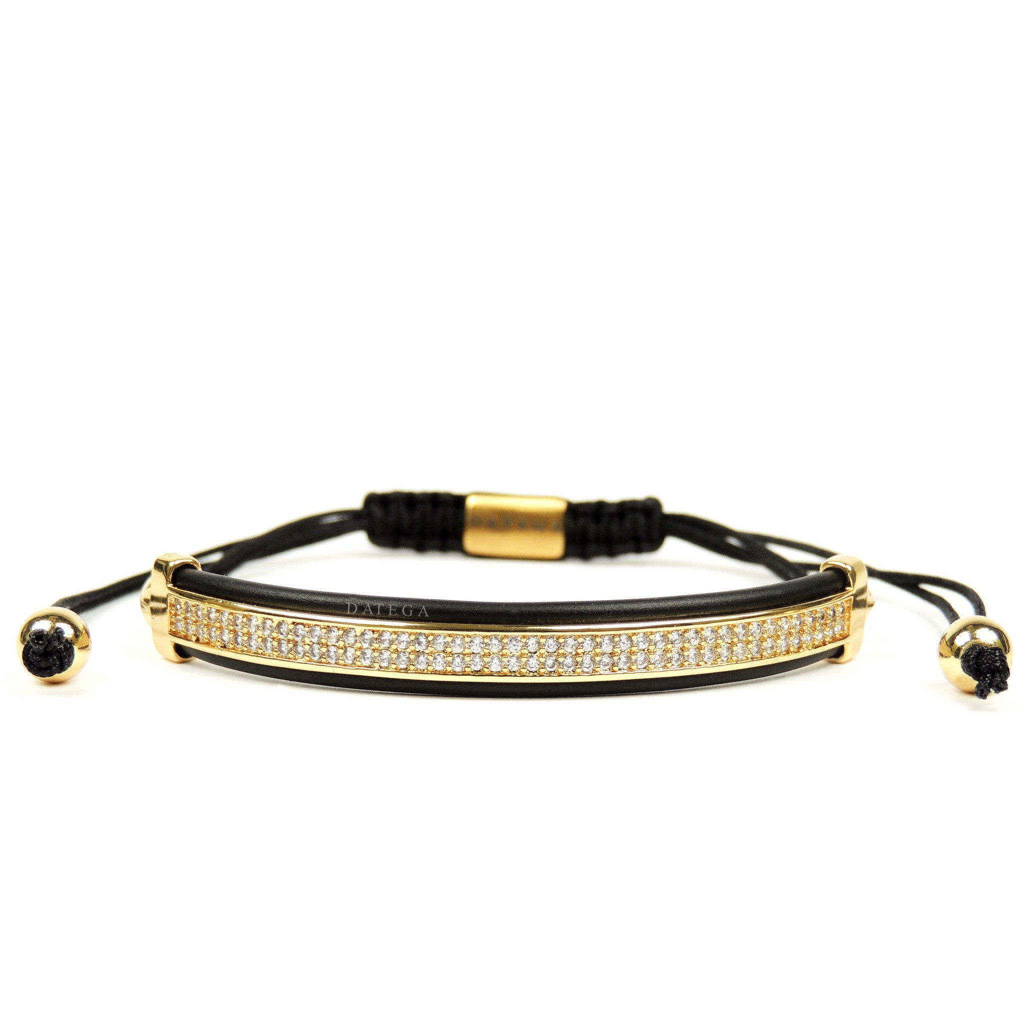 Yellow Gold Clear Cz High End Bracelet