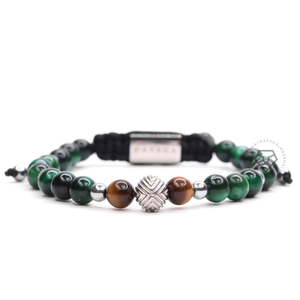 EXXE Sphere White Gold  & Green Tiger Eye