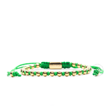 Yellow Gold Stoppers - Green