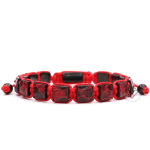 Square Ruthenium Red Python - Red Rope
