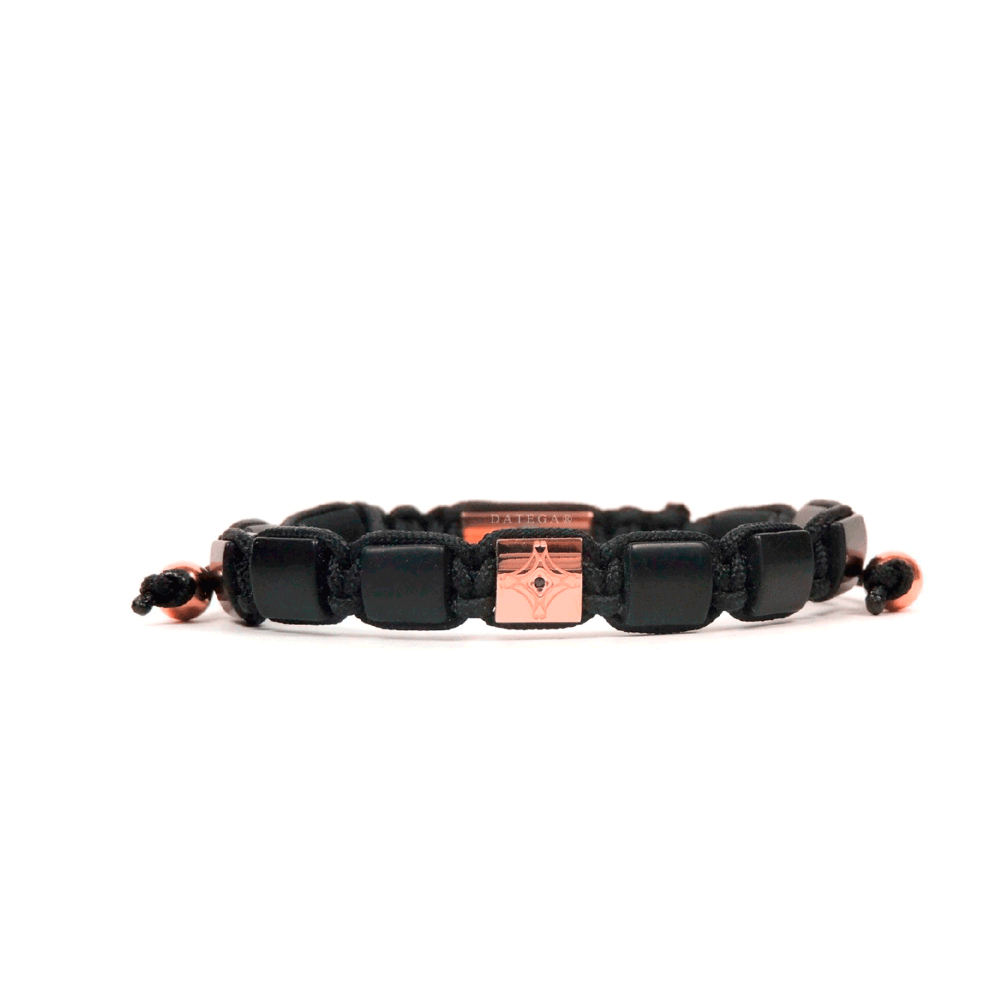 Onyx & Rose Gold Star Bracelet