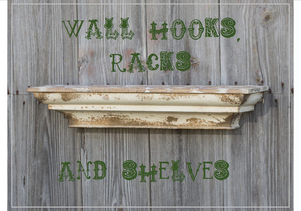 Wall Hooks, Racks & Shelves