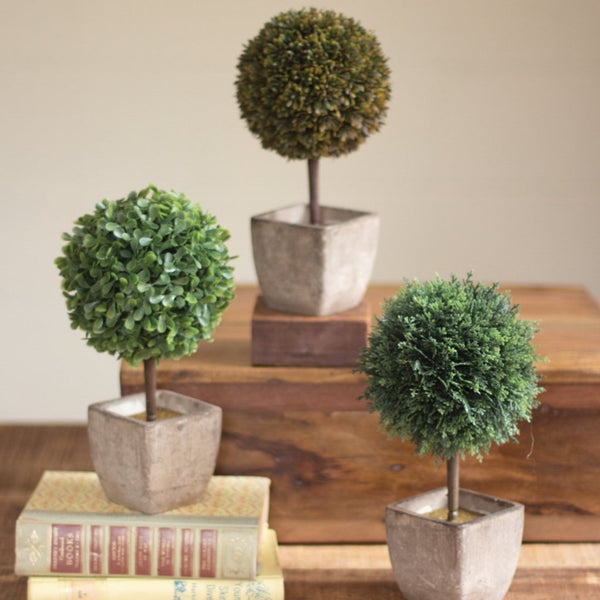 Variety of Topiaries