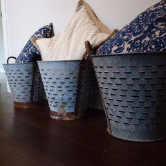 Authentic Vintage Olive Buckets
