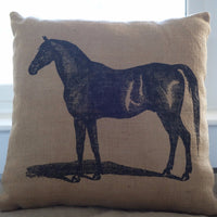 Petey Posing Horse Pillow