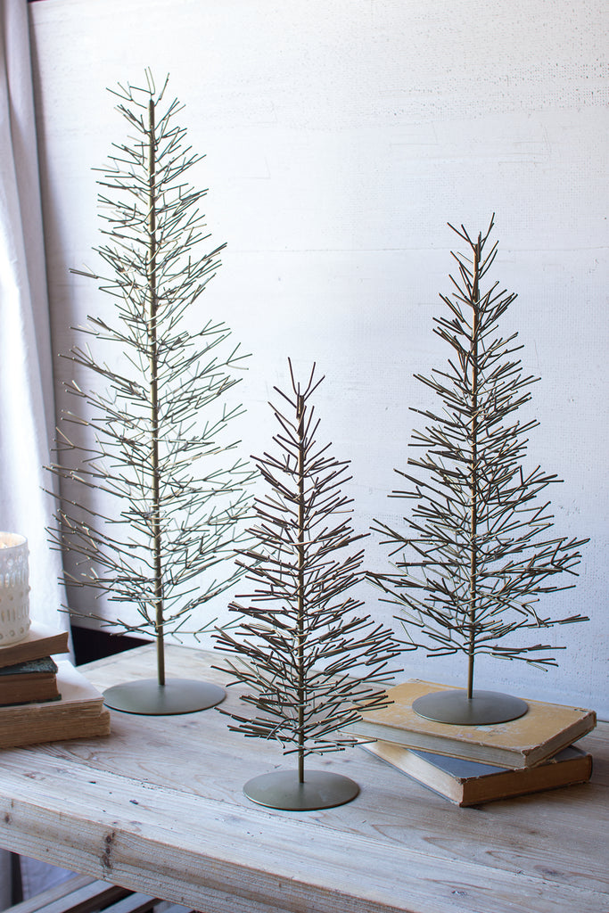 Set of 3 wire trees