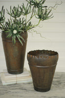 Rusted Metal Planters