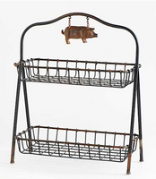 The Perla Pig 2 Tier Basket