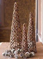 Set of 3 Tree Topiary