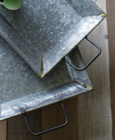 Zinc Tray with Brass Detail