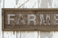 Wooden Farmer's Market Sign