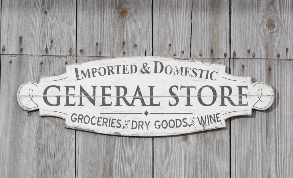 Wooden General Store Sign