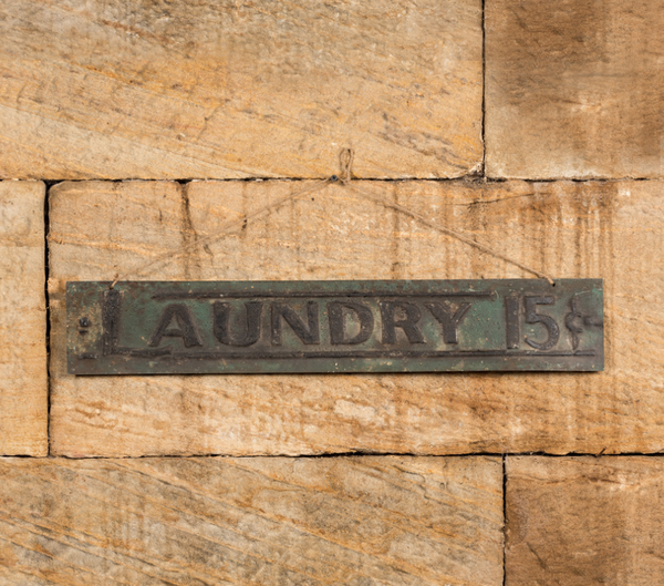 Hanging Laundry Sign