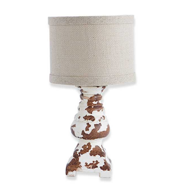Distressed Baluster Table Lamp