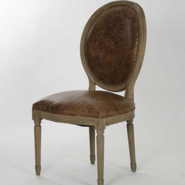 Medallion Leather Chair