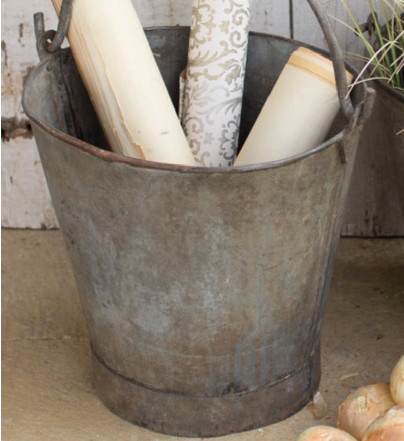 Antique Metal Buckets