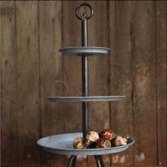 The Rhonda 3-tier metal tray
