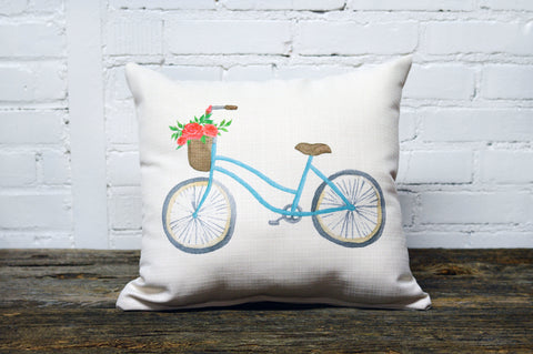 Bicycle with a Basket Pillow