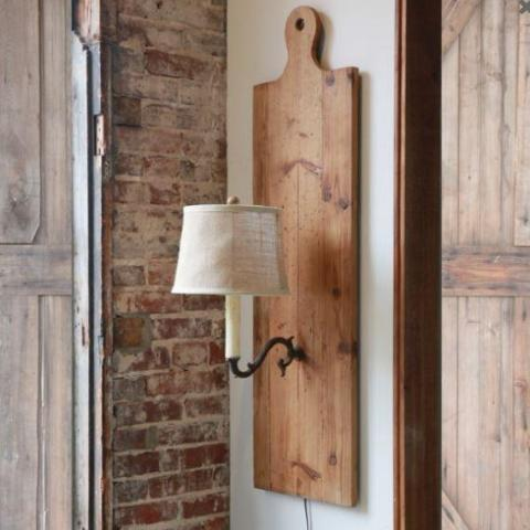 The Ethel Cutting Board Sconce