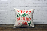 Filthy Animal Christmas Pillow