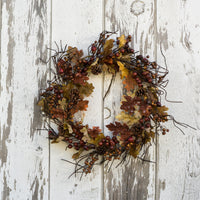 The Melody Maple Leaf and Berry wreath