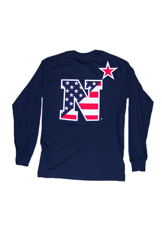 USNA USA N-Star Long Sleeve T-Shirt (navy) - Annapolis Gear