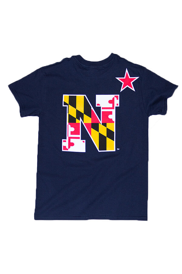USNA MD Flag N-Star T-Shirt (navy) - Annapolis Gear - 1