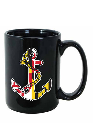 MD Flag Anchor Mug - Annapolis Gear