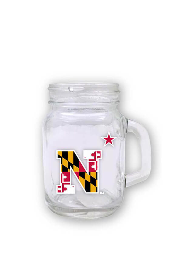 USNA MD Flag N-Star Mini Mason Jar - Annapolis Gear