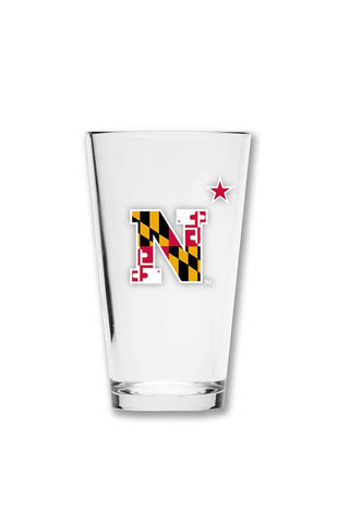 USNA MD Flag N-Star Pint Glass - Annapolis Gear