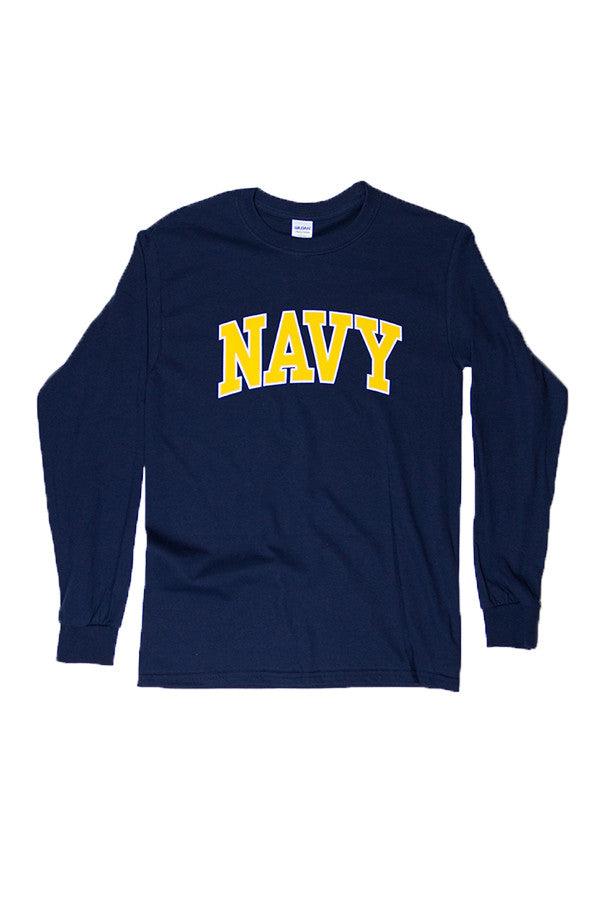 NAVY Arch Long Sleeve T-Shirt (navy) - Annapolis Gear