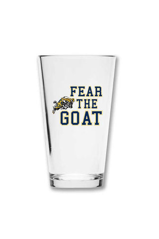 USNA Fear The Goat Pint Glass - Annapolis Gear
