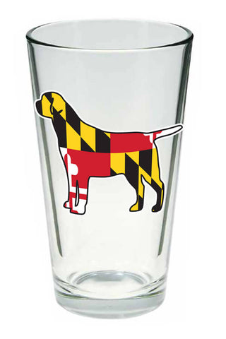 MD Flag Labrador Pint Glass - Annapolis Gear