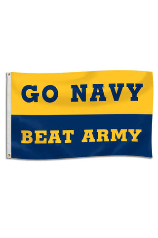 GO NAVY - BEAT ARMY Flag (3'x5') - Annapolis Gear