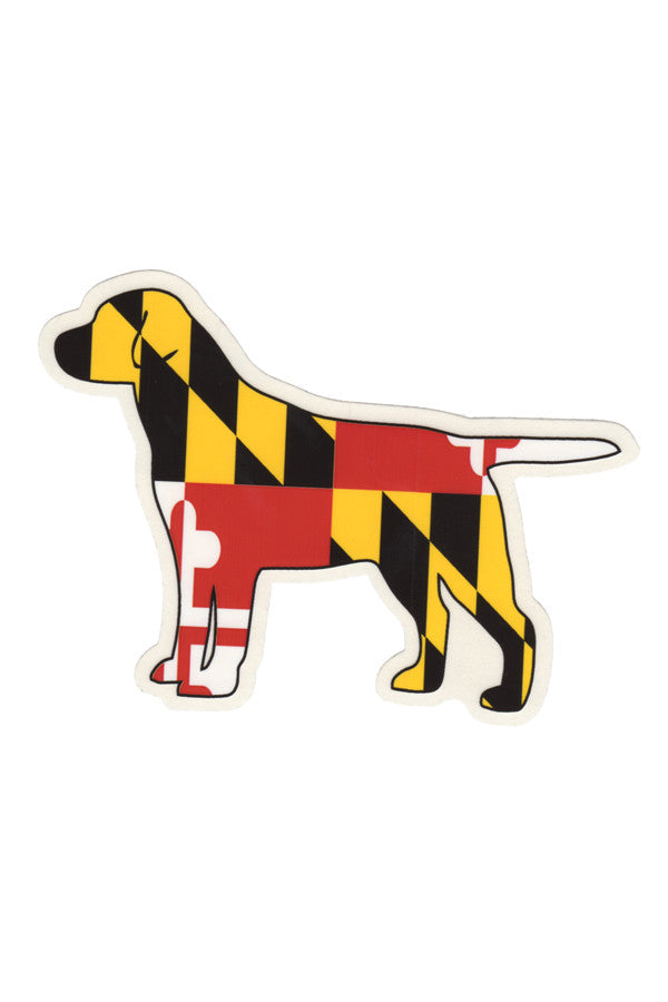 MD Flag Labrador Decal - Annapolis Gear