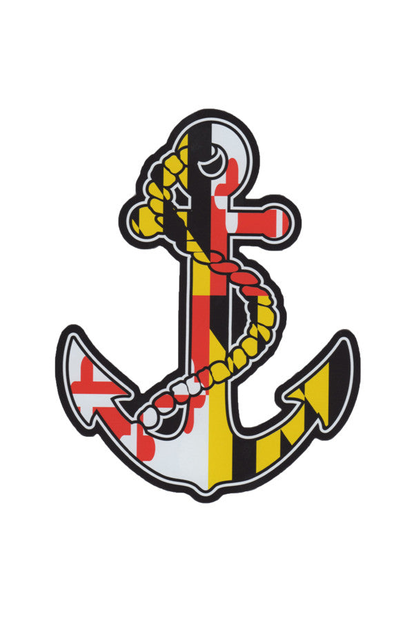 MD Flag Anchor Car Magnet - Annapolis Gear