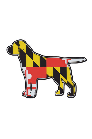 MD Flag Labrador Car Magnet - Annapolis Gear
