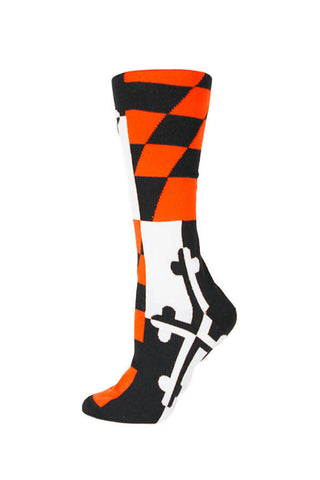 MD Flag Baltimore Baseball Knee High Sock - Annapolis Gear