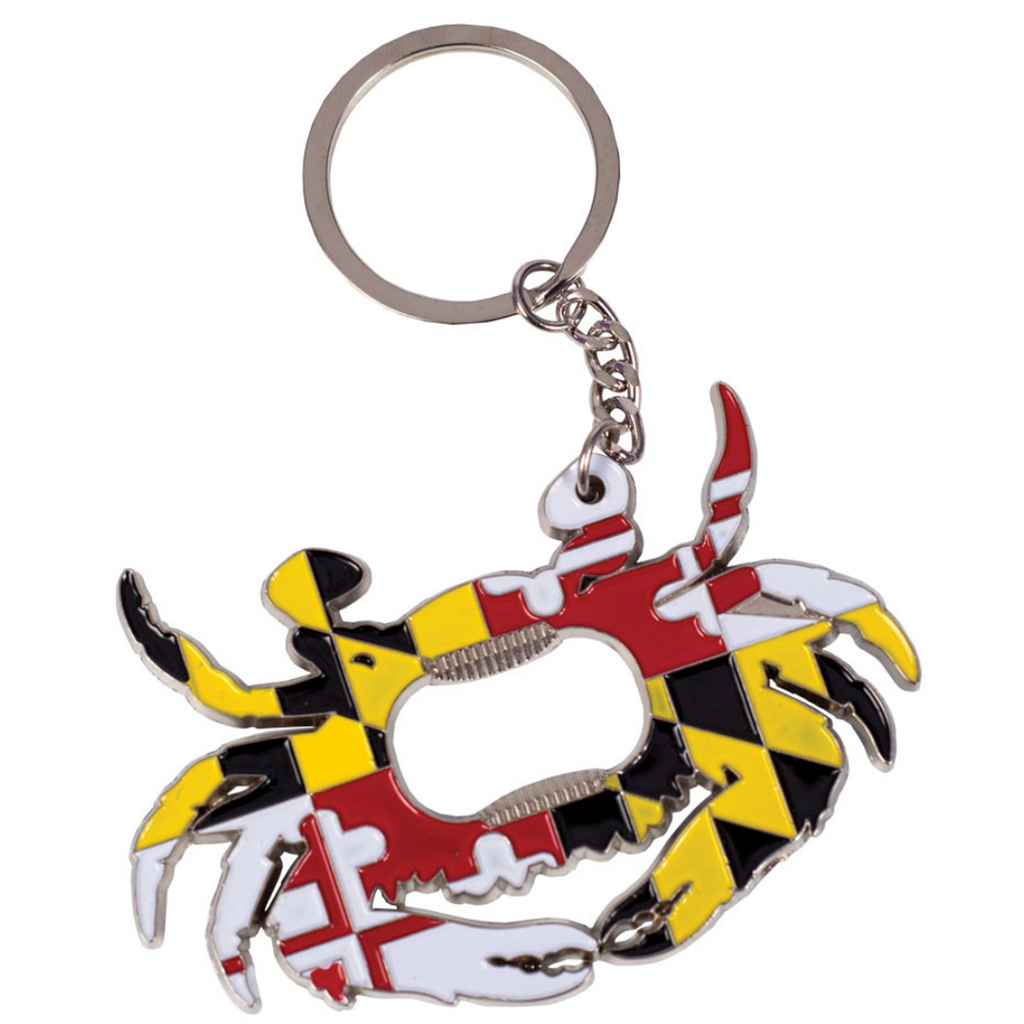 MD Flag Crab Bottle Opener Key Chain