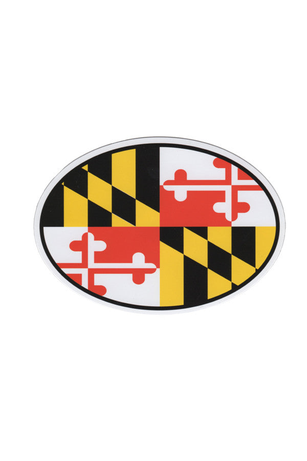 MD Flag Oval Car Magnet - Annapolis Gear