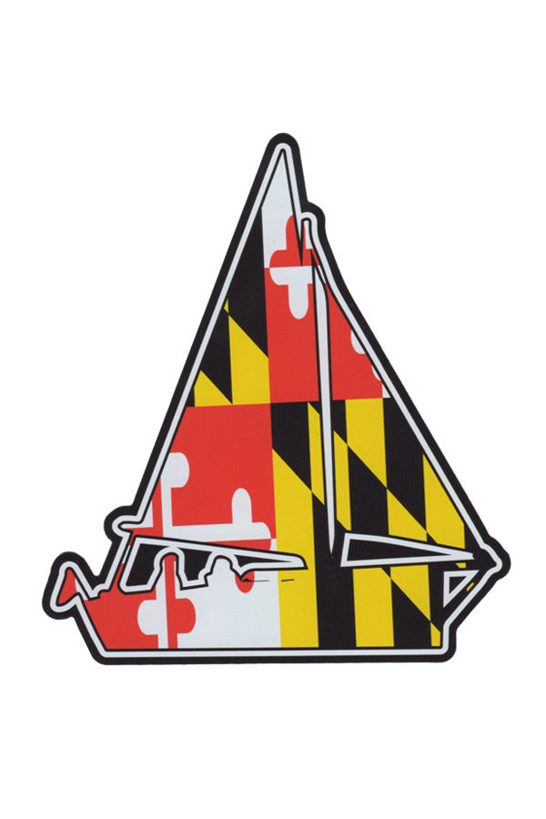 MD Flag Sailboat Car Magnet - Annapolis Gear