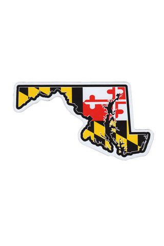 MD Flag State Outline Car Magnet - Annapolis Gear