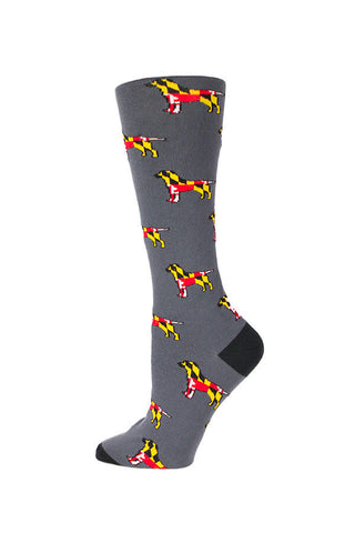 MD Flag Labrador Knee High Sock - Annapolis Gear