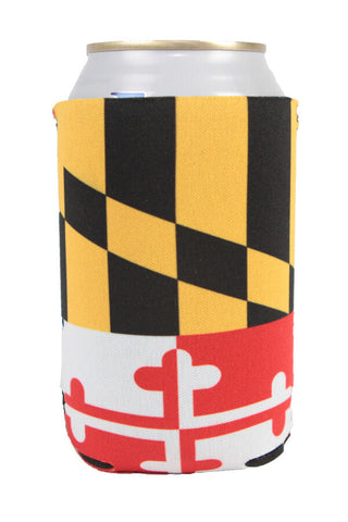 MD Flag Full Wrap Can Koozie - Annapolis Gear