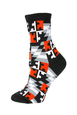 MD Flag Baltimore Check Calf Sock - Annapolis Gear