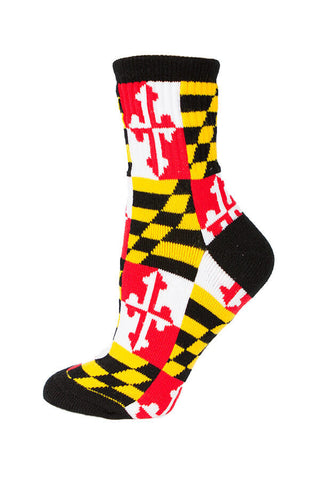 MD Flag Check Calf Sock - Annapolis Gear