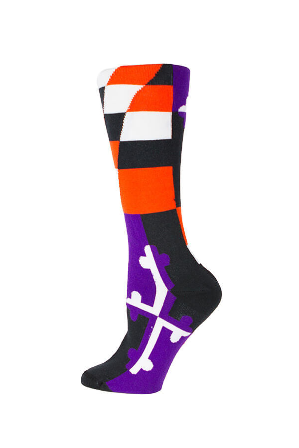 MD Flag Baltimore Pride Football/Baseball Knee High Sock - Annapolis Gear