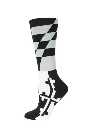 MD Flag Grey Scale Knee High Sock - Annapolis Gear