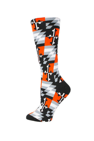 MD Flag Baltimore Baseball Check Knee High Sock - Annapolis Gear